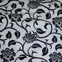 Black and White Velvet on Taffeta
