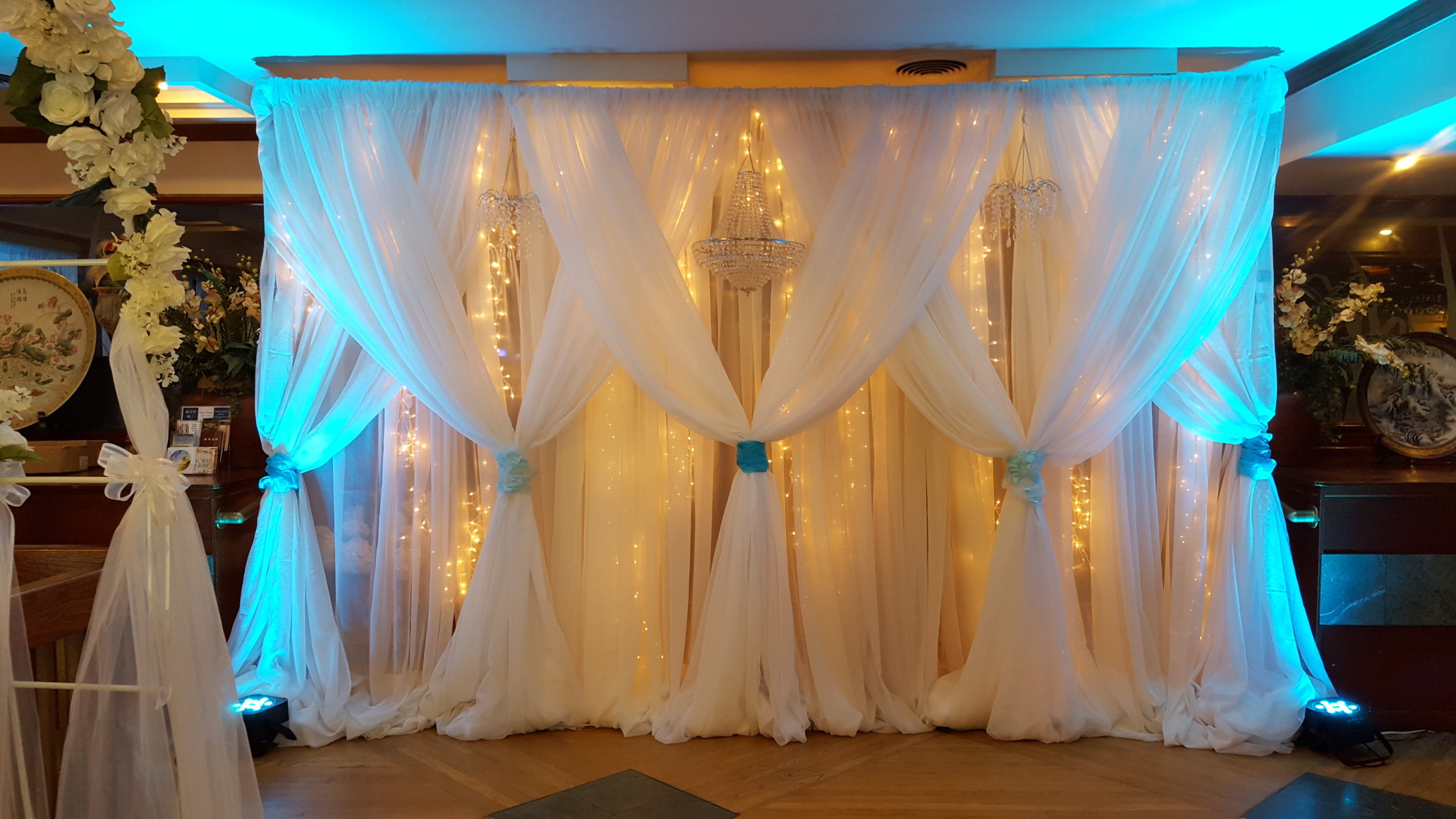 String Lights Backdrop : Event Gallery - Linens and Beyond