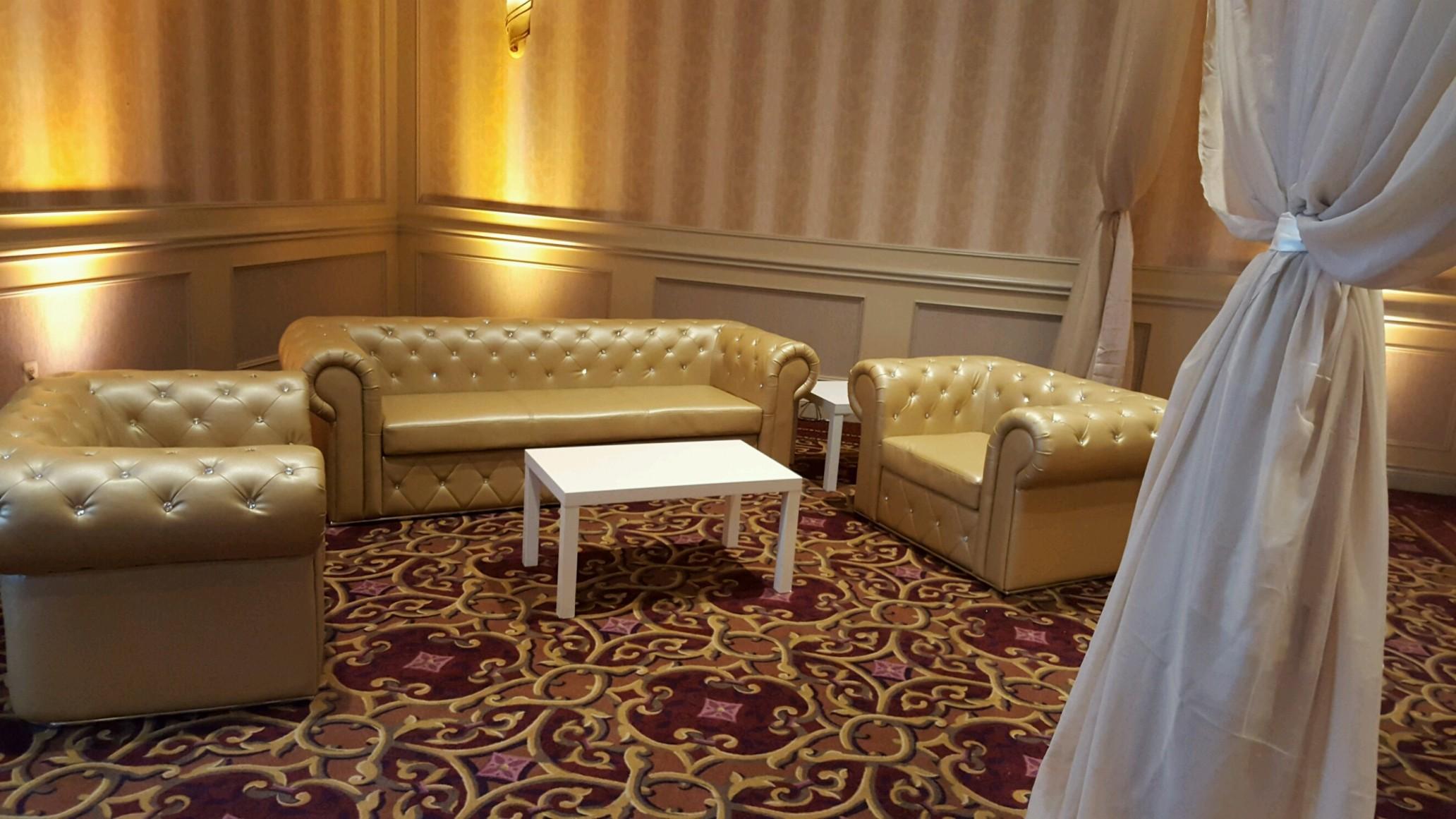 Beau Gold Leather Furniture
