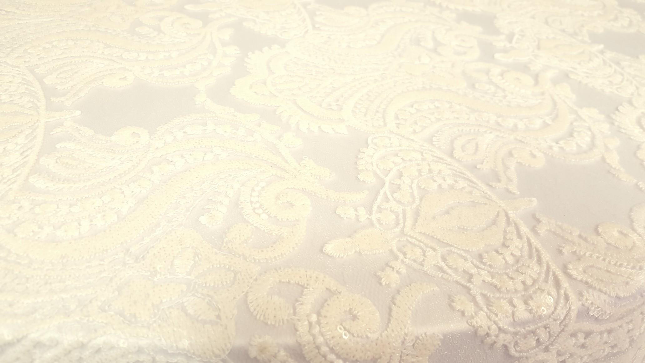 Ivory Versailles Sequin Overlay