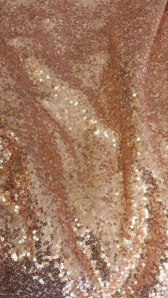Blush Rose Gold Shiny Sequin Glitz - Linens and Beyond